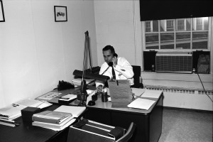 Dr. Harry Hickey at his desk