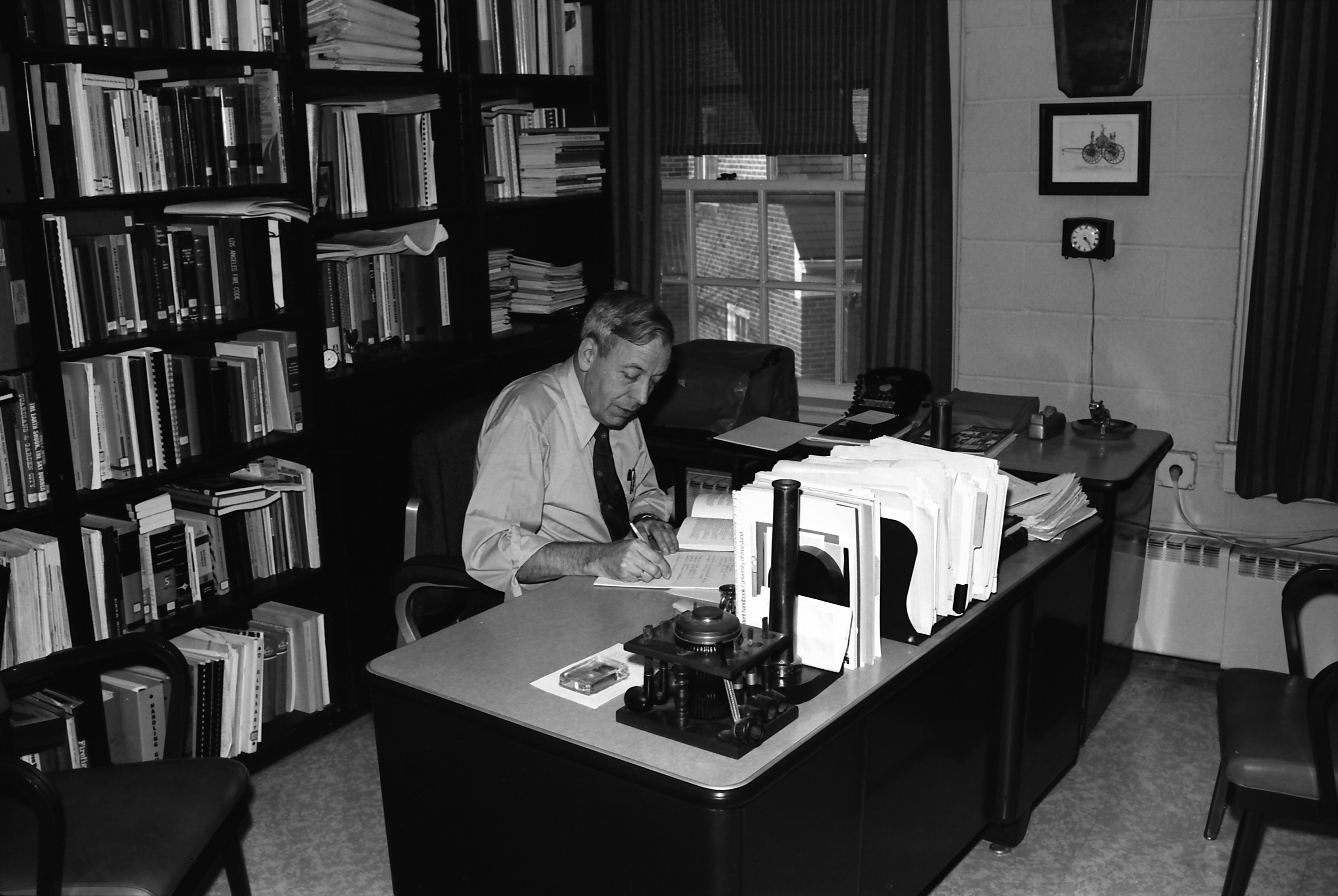 Prof Bryan At His Desk